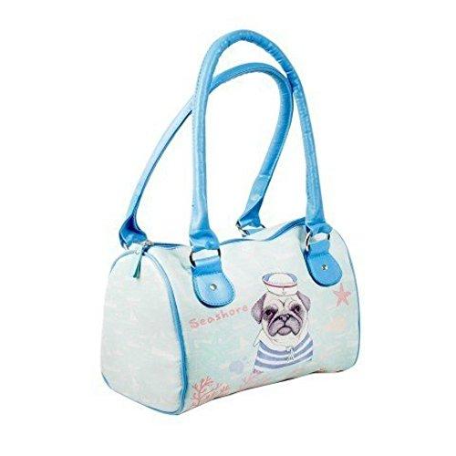 """Bolso Para Mujer Estampado """"Perrito Marinero"""" Complementos. 20 x 26 x 15 cm."""