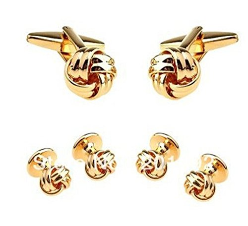 Beauty Jewelry Shop Cufflinks For Men Or Women Designs Novelty Engraved Plating Knot Gold Cufflinks Tuxedo Stud (Knot Tuxedo)