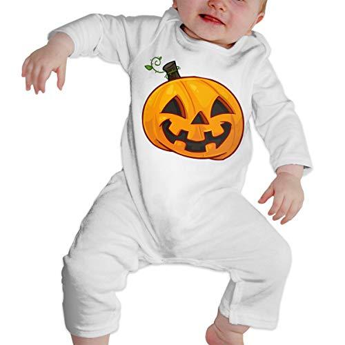 Pumpkin Face Halloween Soft Cotton Comfotable Baby Long Sleeve Onesies