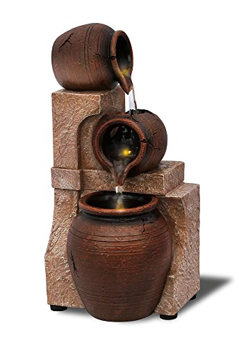 Fountain Water Pottery - Nature's Mark Pottery Vases LED Relaxation Water Fountain