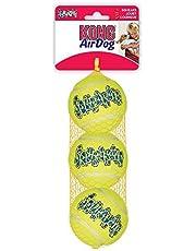 KONG Squeakair Dog Toy Tennis Ball - Medium, Pack of 3