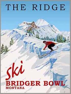 Bridger Bowl Montana Ski Poster (Bridger Bowl)
