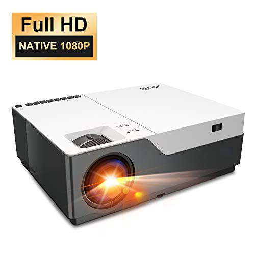 Native 1080P Projector - Artlii 300' Full HD Video Projector for PowerPoint Presentation,Home Theater Projector with Zoom, 55000 Hours Lamp Life, Support HDMI VGA USB for Office and Home Cinema