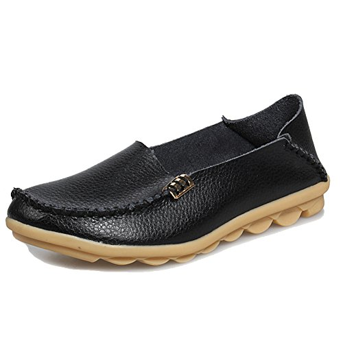 cd828a650cc1 lovely Arbag Women Comfortable Leather Flats Slip On Driving Shoes ...