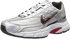 brand new d81ee 1bc6a Nike Men s Initiator Running Shoe metallic silver black white 7.5 D US