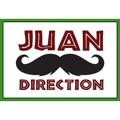 (13x19) Juan Direction Humor Poster