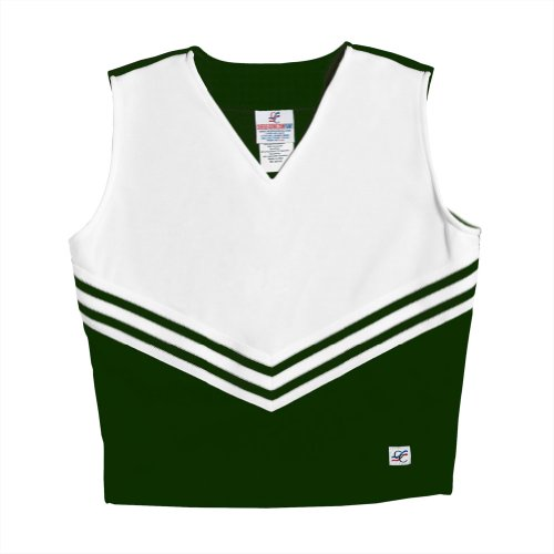 V-Neck Cheerleading Shell, AM, Forest Green ()