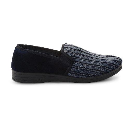 Footwear Sensation - Zapatillas de estar por casa para hombre negro negro negro - azul marino