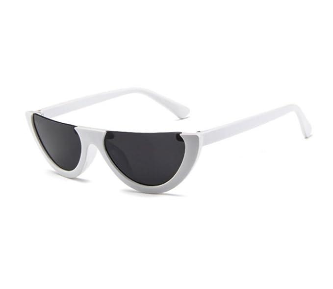 Huateng Gafas de sol retro no polarizadas de medio marco ...