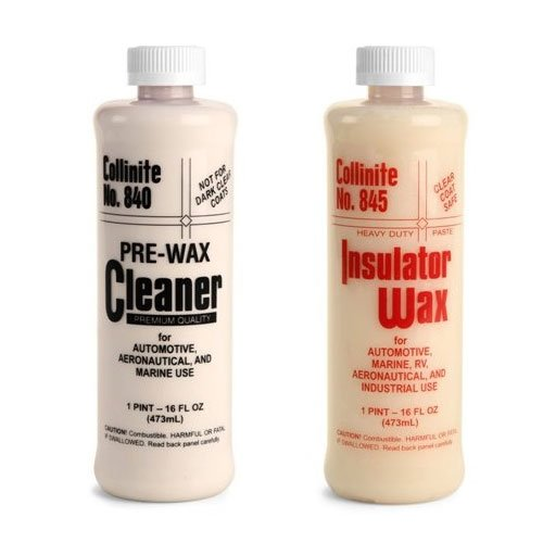 Collinite 840 Pre-Wax Cleaner & 845 Insulator Wax Combo Pack
