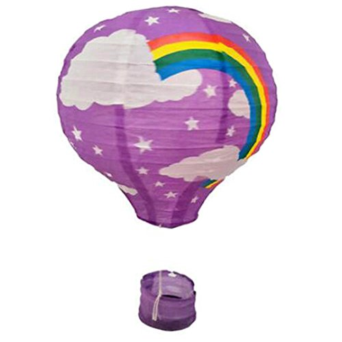 Birthday Party/Christmas/Easter/Mall Decoration Hanging Paper Lantern Hot Air Balloon 30cm(rainbow)