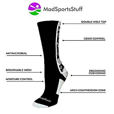 MadSportsStuff Crazy Volleyball Logo Crew Socks (Multiple Colors) from MadSportsStuff