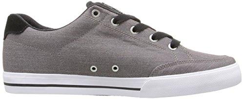 C1RCA Men's AL50 Slim Skateboarding Shoe, Steel/Black/White, 11.5 M US