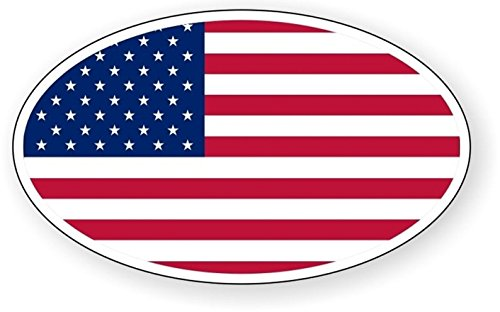 1 Set Master Unique American Flag Oval Window Stickers Signs