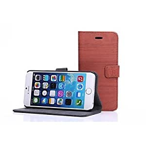 TOPAA Unique Design PU Leather Cover for iPhone 6(Assorted Colors) , Black