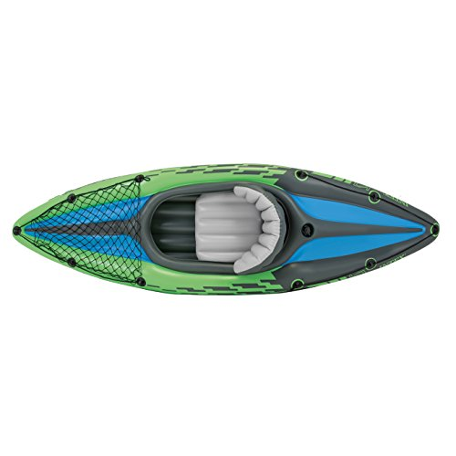 Intex Challenger K1 Kayak Inflatables 1-person Inflatable Kayak Set With Aluminum Oars...
