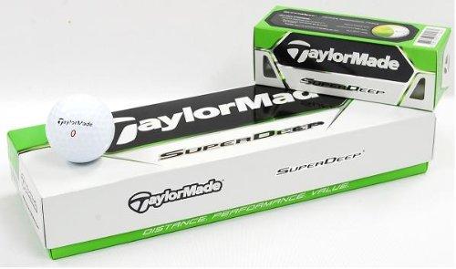TaylorMade SuperDeep Golf Ball (Pack of 12)