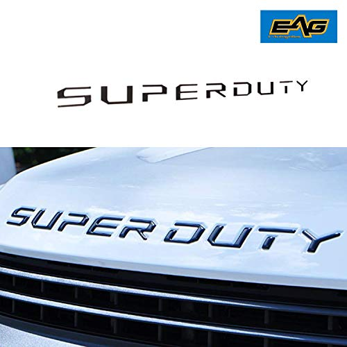 EAG Black Hood Insert Letters Fit for 2017-2019 Ford Super Duty F250 F350 F450