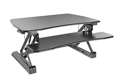Symmetry Office High Tide 3 Sit-Stand Desktop Workstation (Minor Assembly) (Pneumatic Sit Workstation Down)