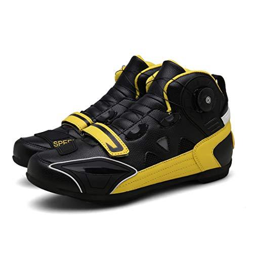 MRDEAR Motorrad Schuhe Herren Schwarz, Motorradschuhe Sneaker Leichte Atmungsaktives Kurze Ankle Boot Sportschuhe…