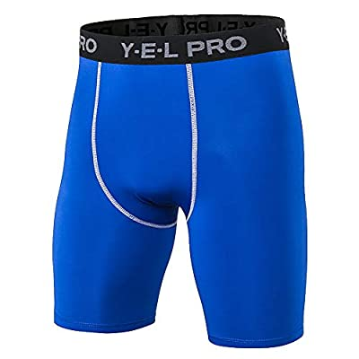 Dizadec Compression Shorts for Men,Men's Sports Compression Pants Cool Dry Baselayer Running Workout Tights Shorts: Clothing