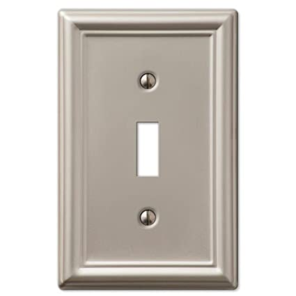Decorative Wall Switch Outlet Cover Plates Brushed Nickel Toggle