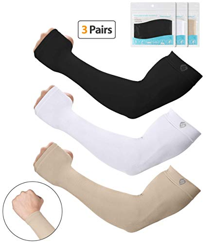 SHINYMOD UV Protection Cooling Arm Sleeves Men Women Sunblock Cooler Protective Sports Running Golf Cycling Basketball Driving Fishing Long Arm Cover Sleeves (Bug Bites That Look Like Poison Ivy)