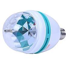 LLSai-3W E27 Colorful Rotating RGB 3 LED Spot Light Bulb Lamp
