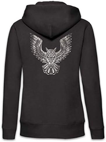 Urban Backwoods Owl II Femme Zip Hoodie Sweat à Capuche