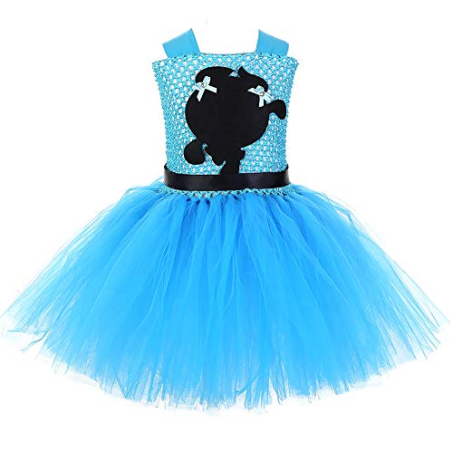 (AQTOPS Little Girls Bubbles Dress Up Halloween Powerpuff Girl Role Play Costume)