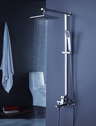 Ling@ Shower Tap Shower tub Faucet Contemporary with 8 inch Shower Head with Hand Shower price