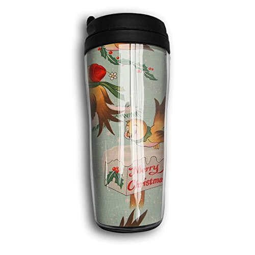 Bird Christmas Travel Mug Coffee Thermos Stainless Steel Flask Water Bottle -
