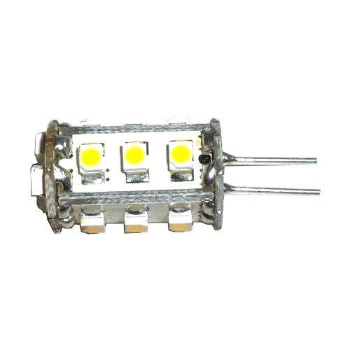 HQRP Bi-pin G4 15 LEDs SMD LED Bulb Tower Type Warm White for Intermatic Landscape light / Malibu Landscape light plus HQRP Coaster