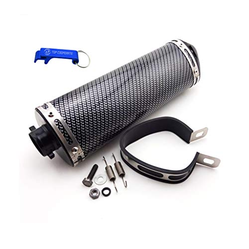 TC-Motor 38mm Silence Exhaust Muffler With Removable Silencer Clamp For 125cc 140cc 150cc 160cc Pit Dirt Bike ATV Quad Motorcycle Motocross XR CRF KLX SSR Stomp Thumpstar