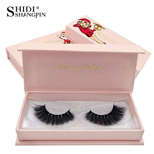 SHIDISHANGPIN 1 Pair eyelashes natural long eyelashes 1 box 3d thick double layered Lashes cross dramatic false eyelashes 3d lashes Christmas gift # C68 Carol]()