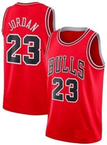 A-lee Men s Jersey toros Vintage campeón de la NBA, Michael Jordan Jersey Chicago Bulls 23 El Jugador # Malla Jersey de Baloncesto (Red, S): Amazon.es: Ropa y accesorios