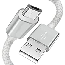 iModo Nylon Braided Sync and Fast Charging USB Cable 2 pack [3ft x2]