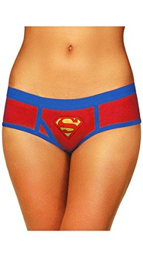 Superman Foil - Superman Boyshort with Foil Logo (Small)
