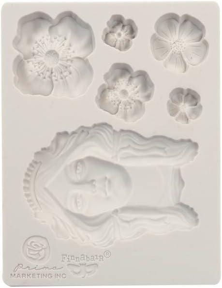 Finnabair Decor Moulds 3.5x4.5-flower Queen