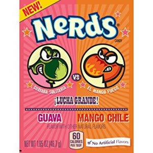 Wonka Nerds Mango Chile & Guava 46.7g (Pack of 24) by Wonka