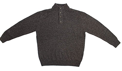 Enzo Mantovani Mens 4 Button 100% Wool Sweater (Large) (Ann Taylor Silk Sweater)