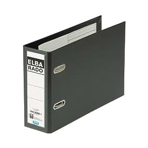 Elba Rado Plast - Carpeta (8 cm, Negro)