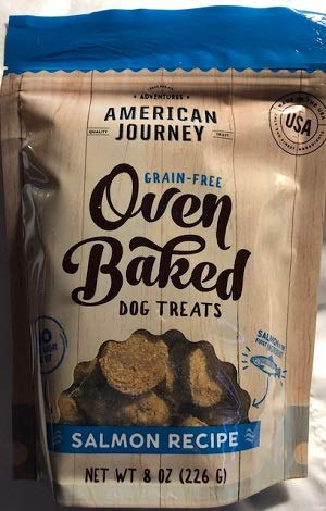 American Journey Grain Free Oven Baked Dog Treat Salmon Recipe 1-8 oz Bag