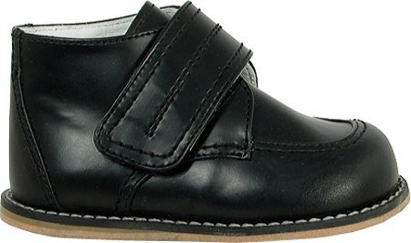 Josmo Baby Walker Leather Dress Velcro Shoes, Black, 4 M US Toddler by Josmo (Image #1)
