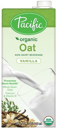 Pacific Foods Organic Oat Non-Dairy Beverage, Vanilla, 32-Ounce, (Pack of 12)