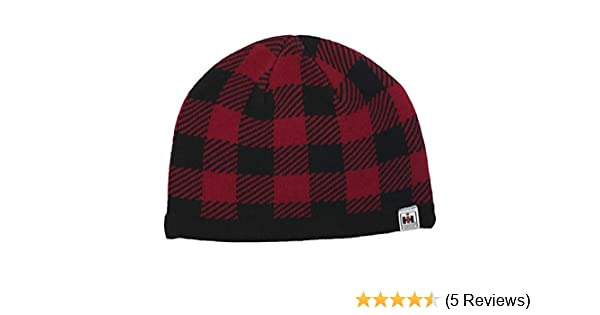 987f7ea05821a IH Red Buffalo Plaid Knit Beanie - Officially Licensed at Amazon Men s  Clothing store
