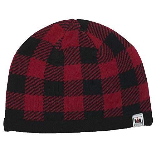 (IH Red Buffalo Plaid Knit Beanie - Officially Licensed)