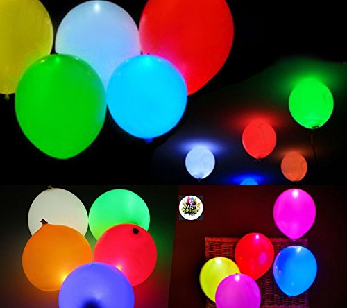 Party Tonight 15 Pk Balloons Mixed Colors : LED Balloons. Great for All Occasions: Birthdays, Holidays, Anniversary & Gift For Kids! Enjoy The Ultimate Balloons For Any (Party City Glow In The Dark Balloons)
