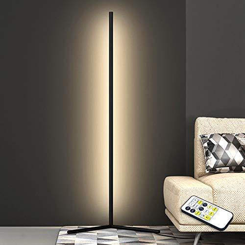 LED Vloerlamp Dimbare Hoek Vloerlamp Met Afstandsbediening 20W Tricolor Dimbaar Moderne Minimalistische Stijl, Ambient…