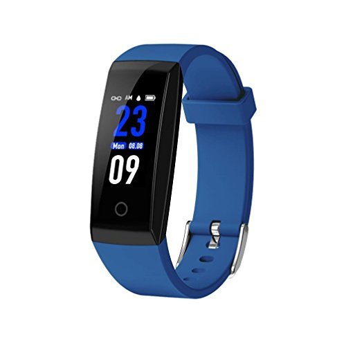 Price comparison product image Fitness W8 0.96'' TFT Smart Bracelet Watch Heart Rate Monitor Bluetooth 4.0 Wristband (B)